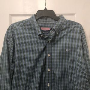 Vineyard Vines Button Down Plaid XL